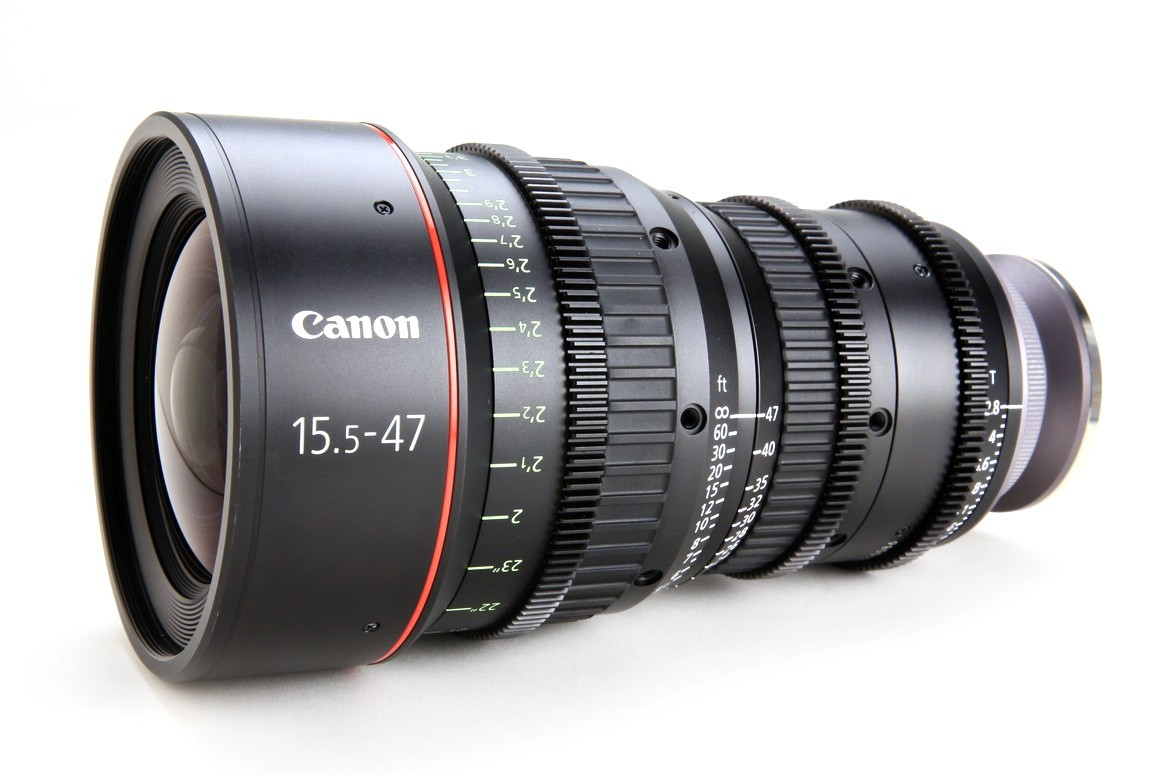 ZOOM CANON CINE LENSES 15.5–47 mm T 2.8