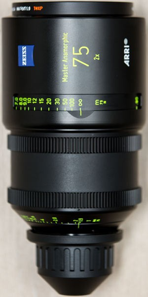 Optica Arri Master Anamorfica 75 mm
